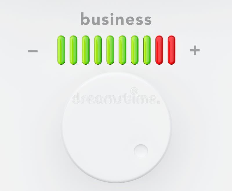 Botón de control con la escala del progreso del negocio libre illustration