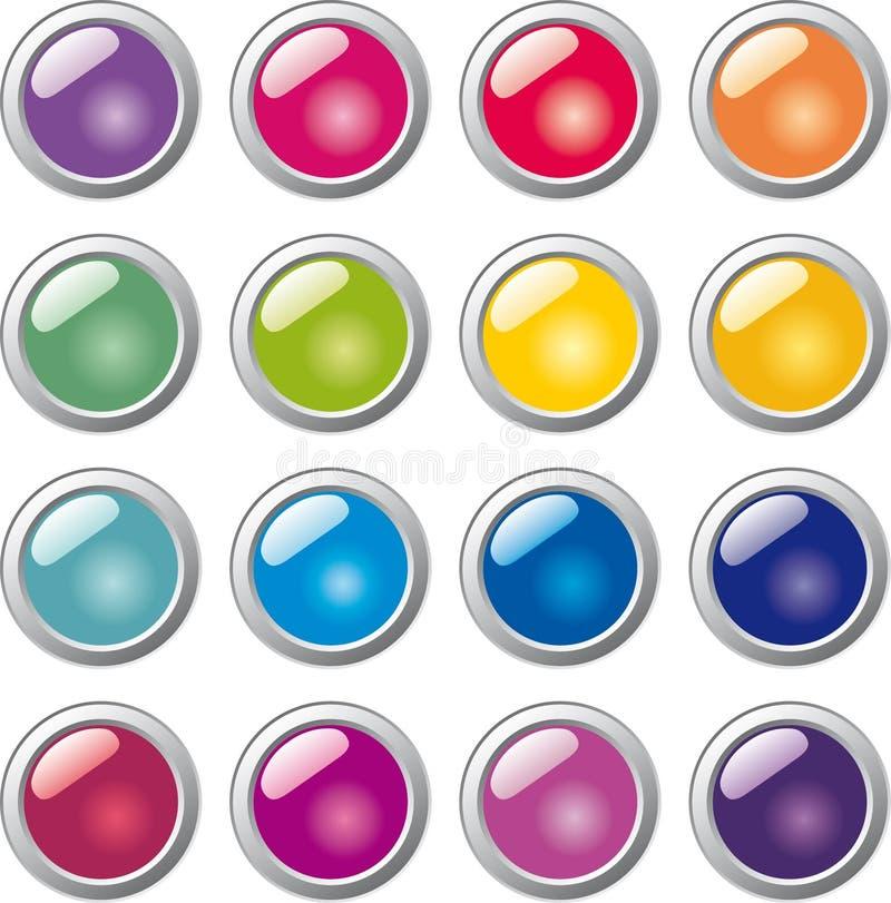 Botón de cristal de la esfera stock de ilustración