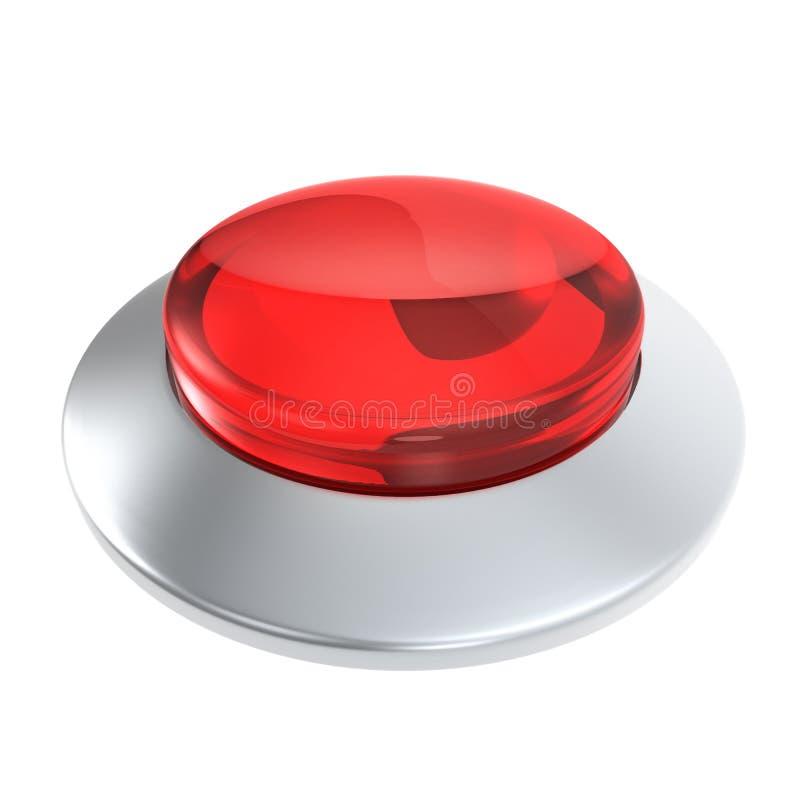 Botón de cristal rojo con el marco metálico libre illustration