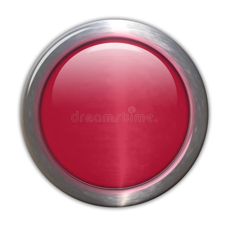 Botón de cristal rojo - espacio en blanco ilustración del vector