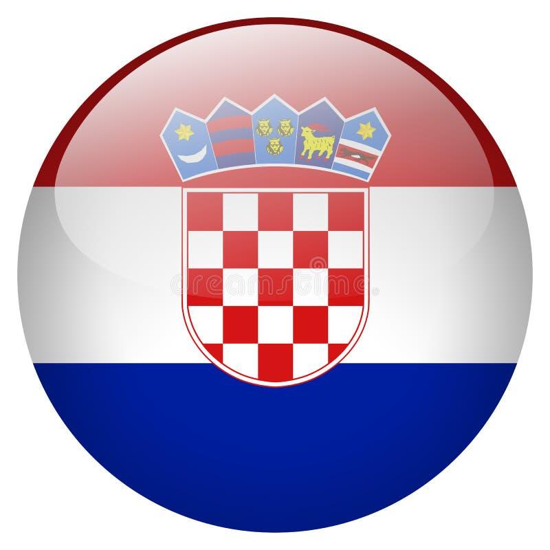 Botón de Croacia stock de ilustración