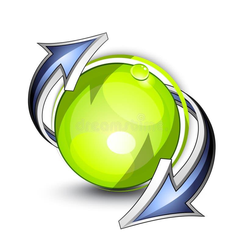 Botón de Eco con las flechas stock de ilustración