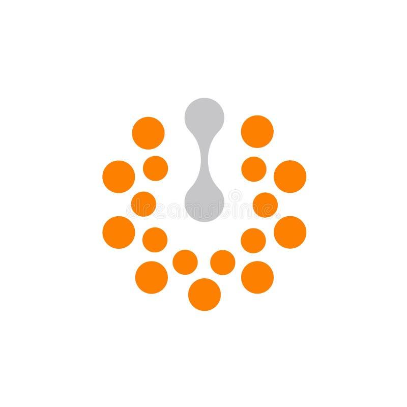 Botón de encendido, prensa con./desc., muestra abstracta Ejemplo del vector del concepto de la energía de Eco libre illustration