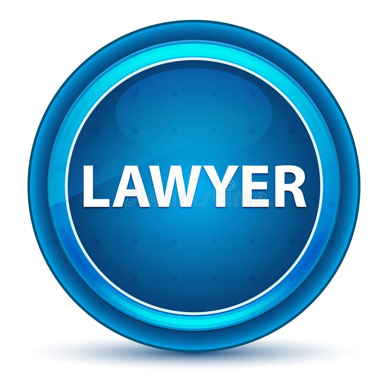 Botón de Eyeball Blue Round del abogado libre illustration