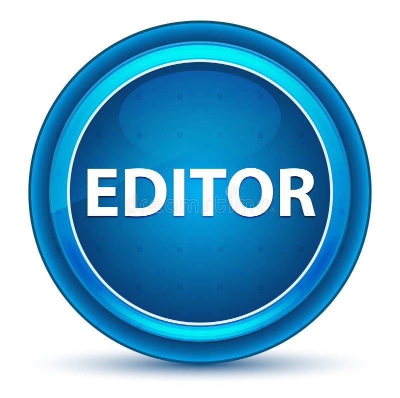 Botón de Eyeball Blue Round del redactor stock de ilustración