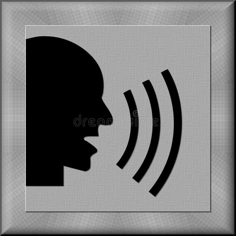 Botón de grito del hombre ilustración del vector