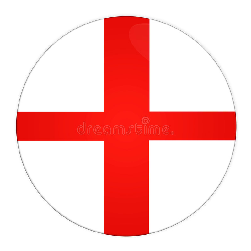 Botón de Inglaterra con el indicador libre illustration