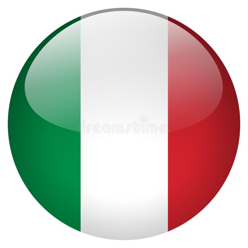 Botón de Italia ilustración del vector
