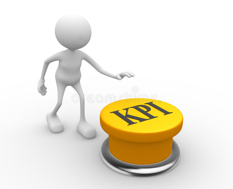 Botón de KPI (indicador de rendimiento clave) libre illustration