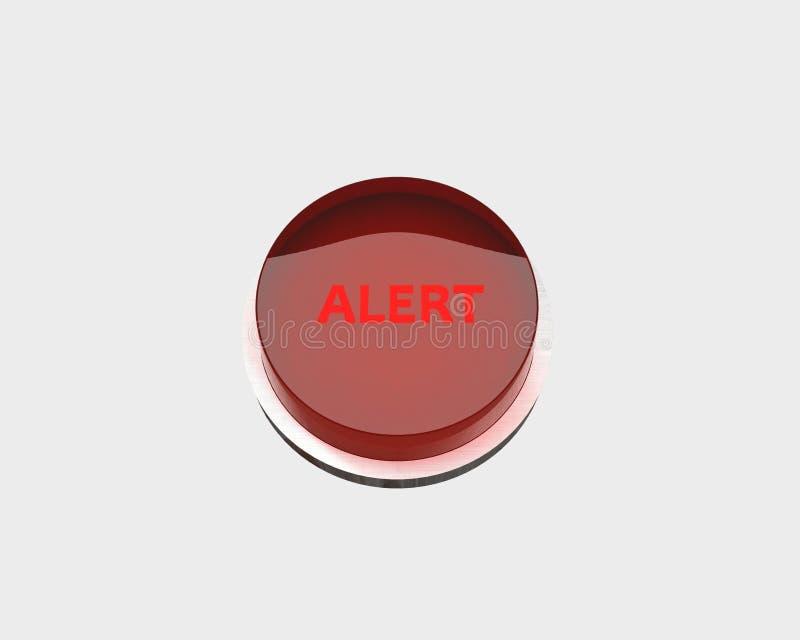 Botón de la alarma roja stock de ilustración