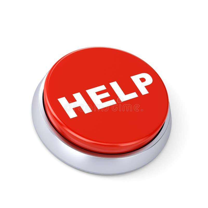 Botón de la ayuda stock de ilustración
