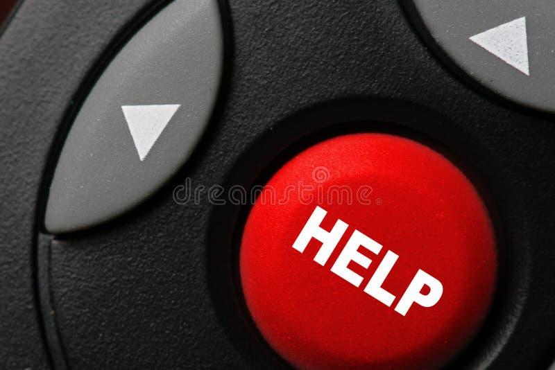 Botón de la ayuda foto de archivo