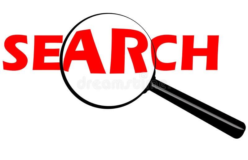 Botón de la búsqueda stock de ilustración