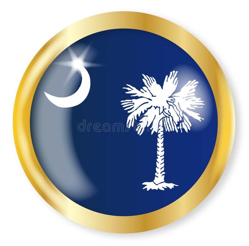Botón de la bandera de Carolina del Sur ilustración del vector