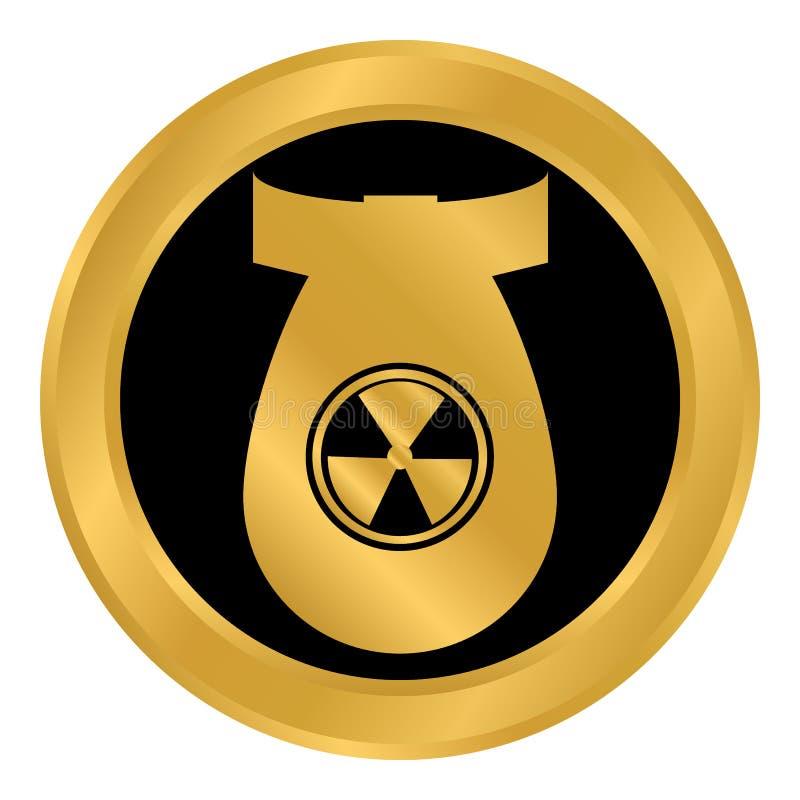 Botón de la bomba en blanco libre illustration