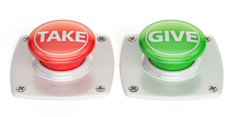Botón de la concesión mútua, representación 3D libre illustration