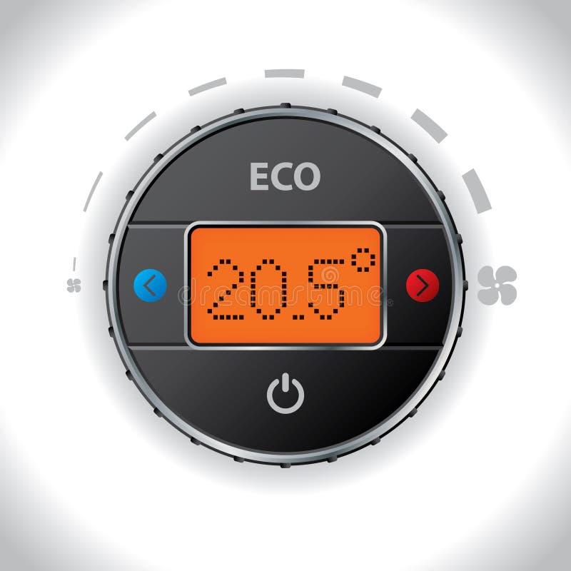 Botón de la condición del aire del coche ilustración del vector
