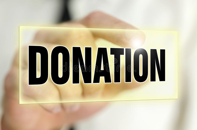 Botón de la donación foto de archivo libre de regalías
