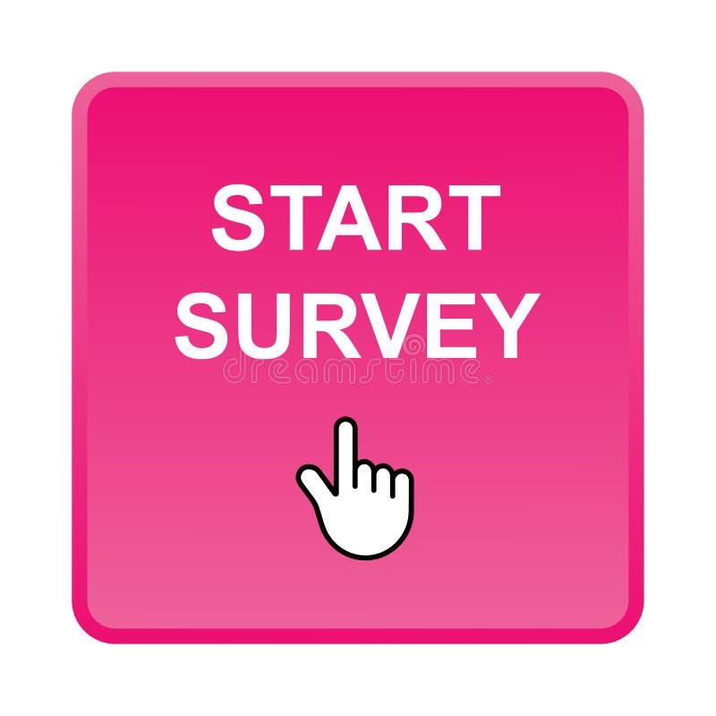 Botón de la encuesta sobre el comienzo stock de ilustración