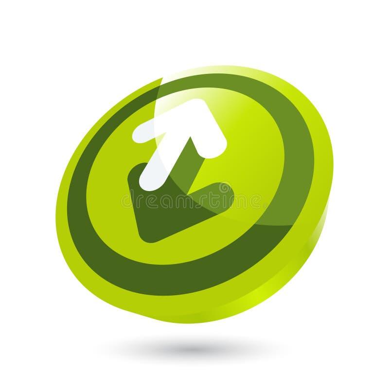 Botón de la flecha direccional stock de ilustración