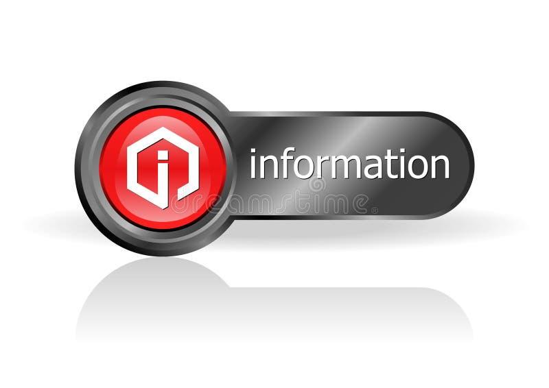 Botón de la información libre illustration