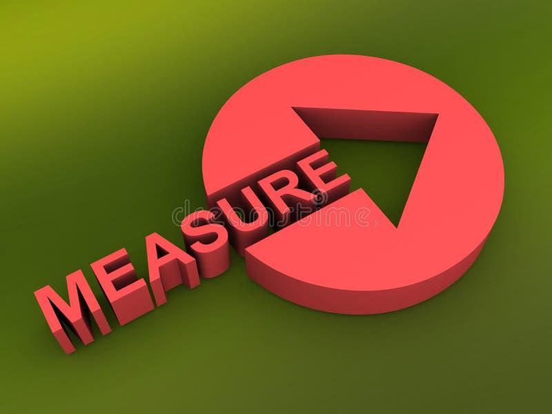 Botón de la medida con una flecha libre illustration