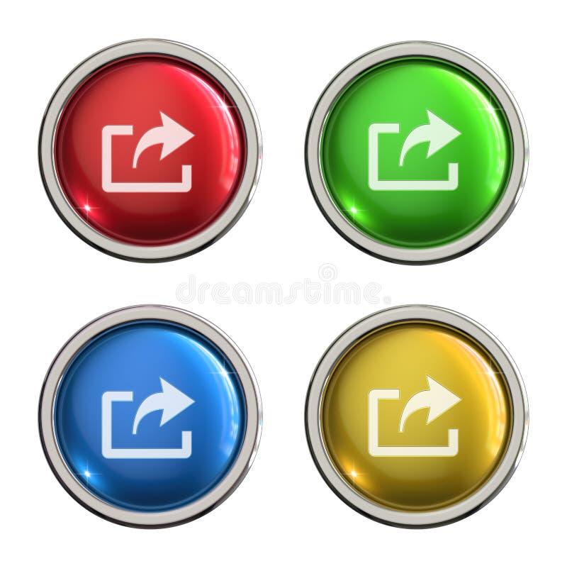 Botón de la parte o del vidrio de la exportación libre illustration