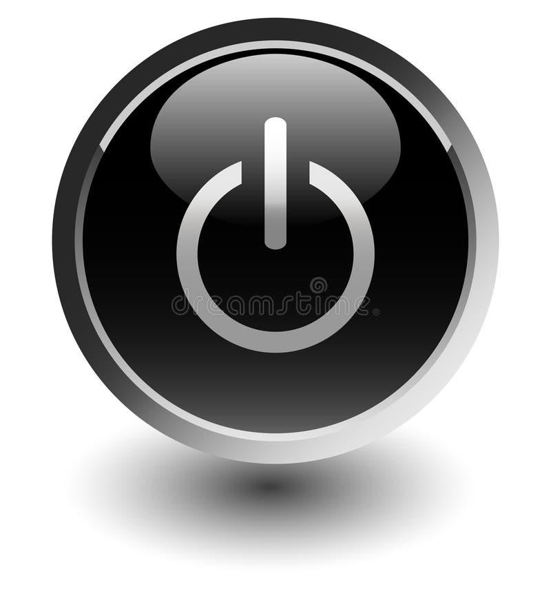 Botón de la potencia negra stock de ilustración