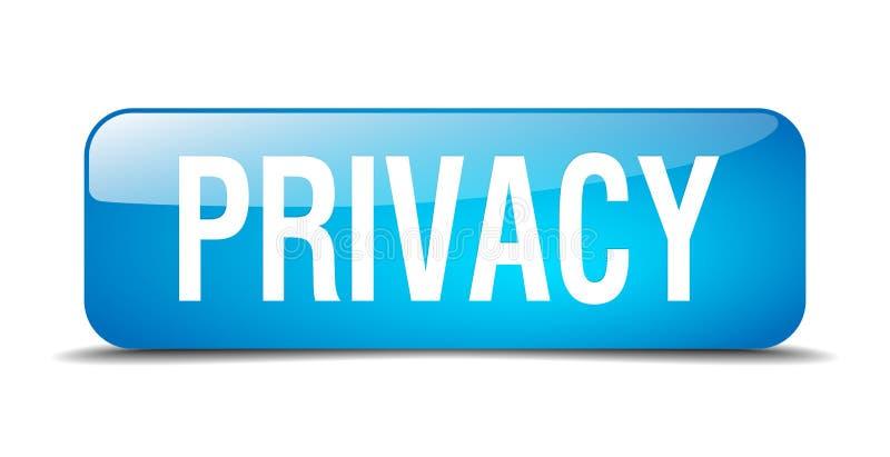 Botón de la privacidad ilustración del vector