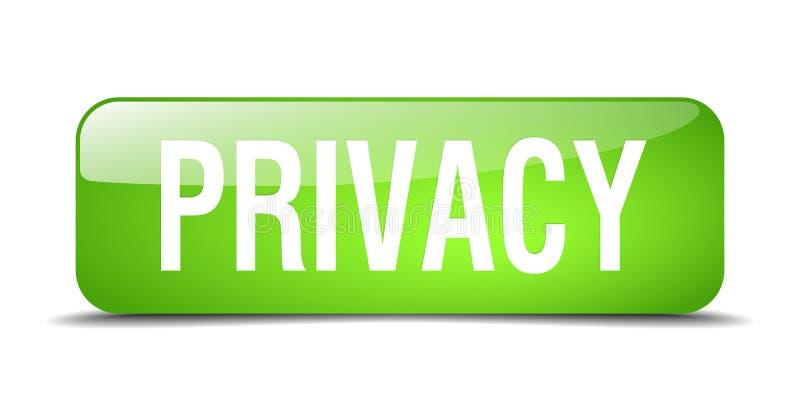 Botón de la privacidad stock de ilustración