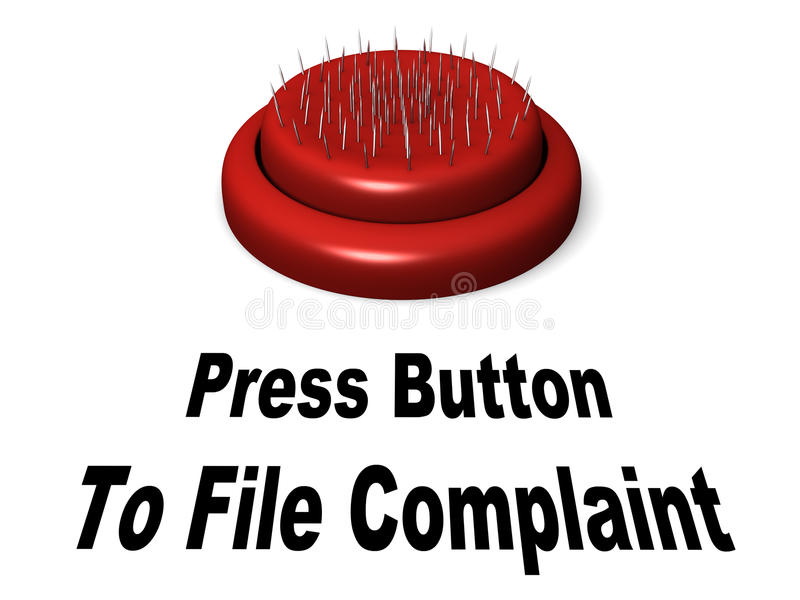 Botón de la queja libre illustration