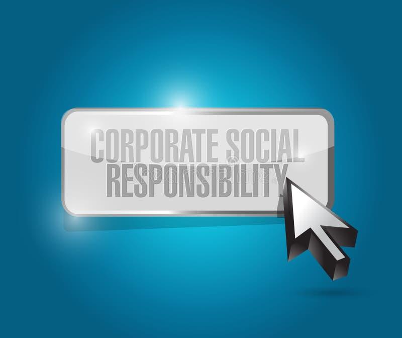 botón de la responsabilidad social corporativa stock de ilustración