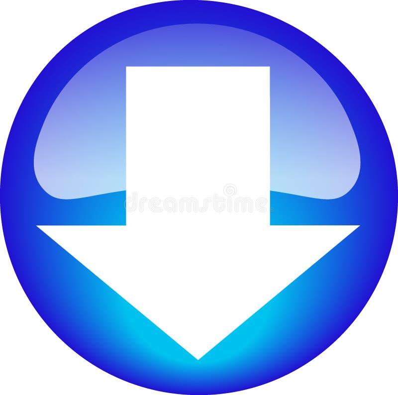 Botón de la transferencia directa ilustración del vector