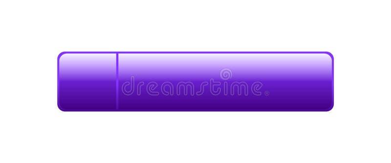 Botón de la web vacío ilustración del vector