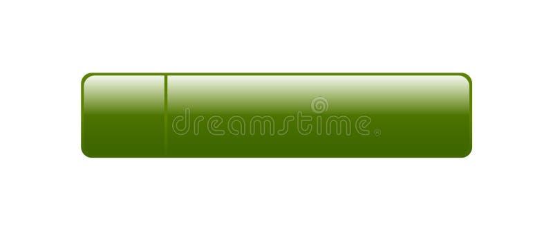Botón de la web vacío stock de ilustración