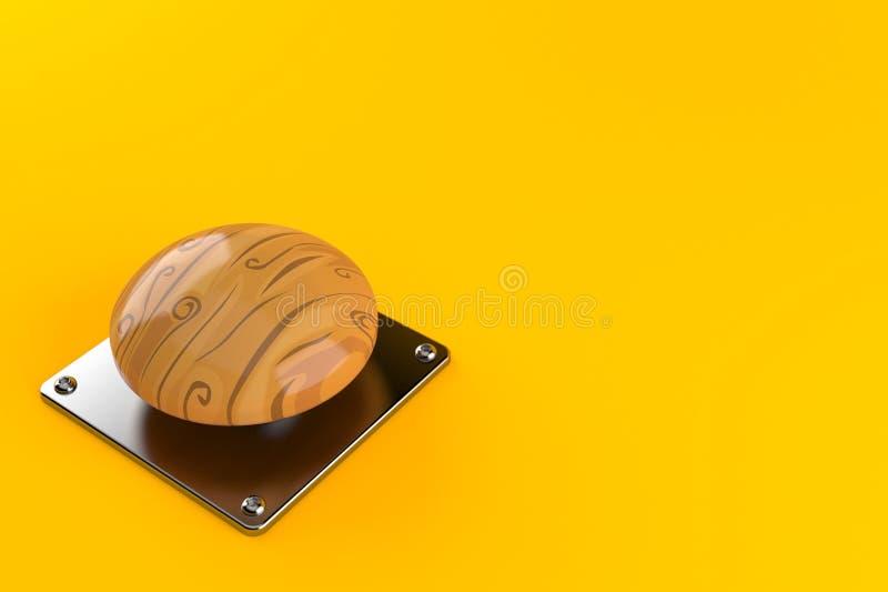 Botón de madera libre illustration