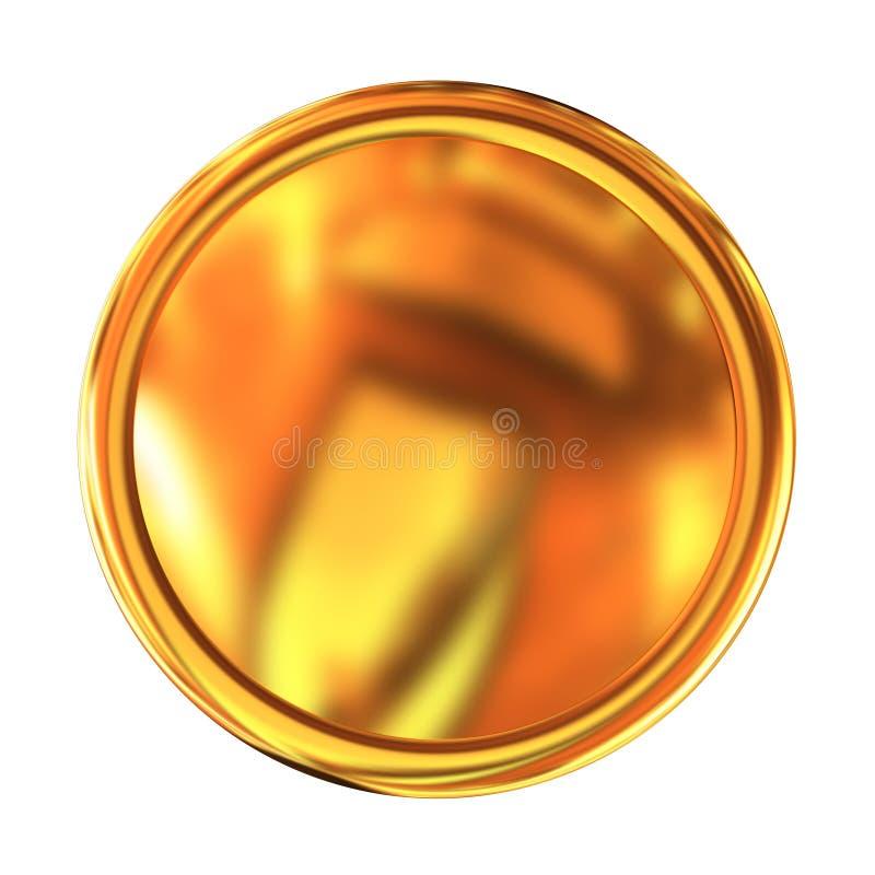 Botón de oro del Web ilustración del vector
