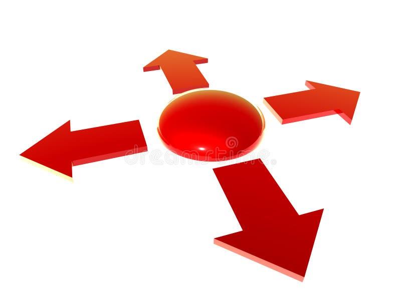 Botón de pánico stock de ilustración