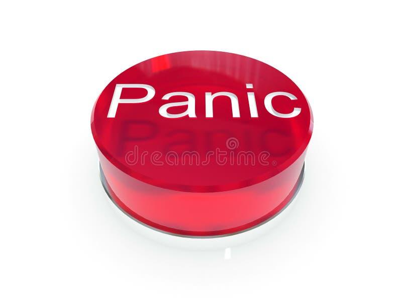 Botón de pánico ilustración del vector