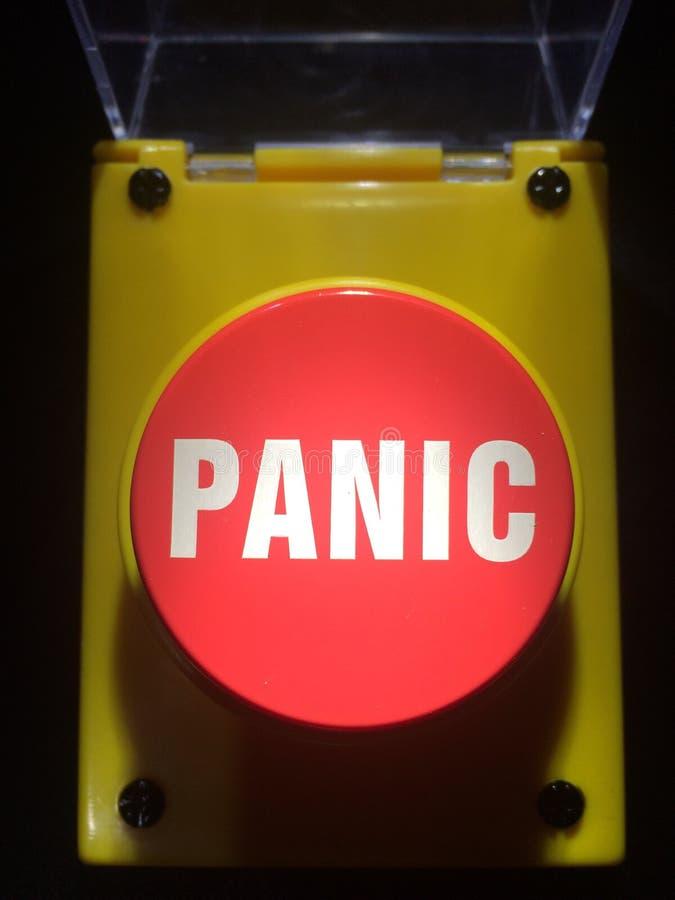 Botón de pánico fotografía de archivo libre de regalías