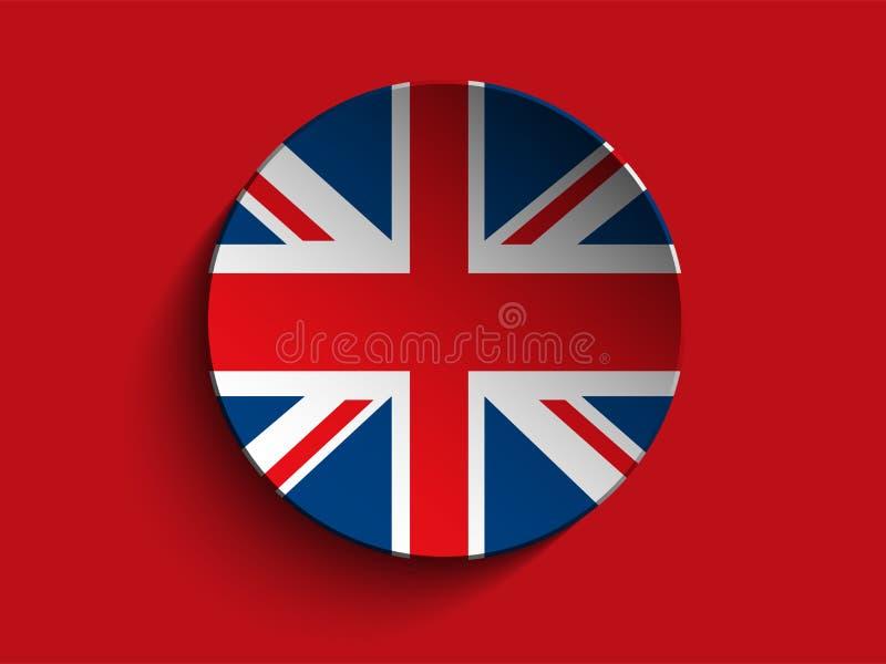 Botón de papel de la sombra del círculo de la bandera libre illustration