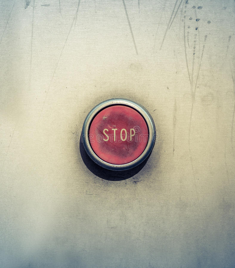 Botón de paro de emergencia fotos de archivo