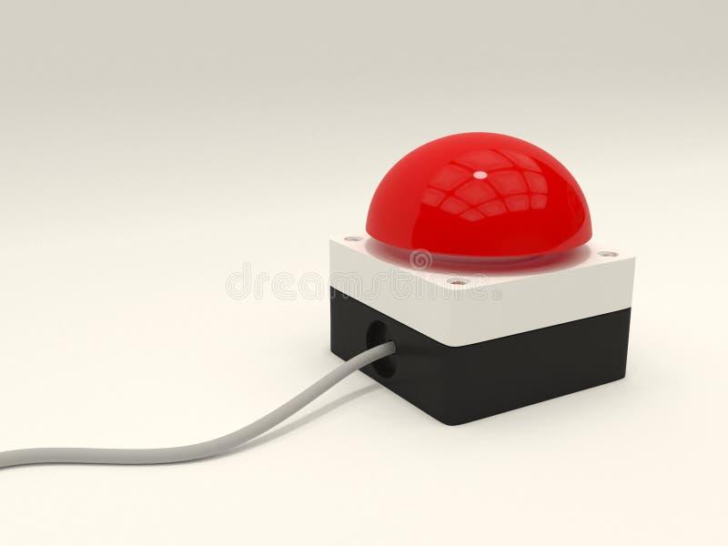 Botón de paro rojo de la emergencia imagenes de archivo