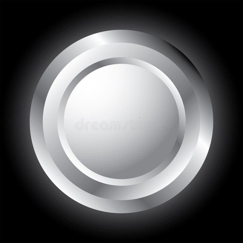 Botón de plata. imágenes de archivo libres de regalías