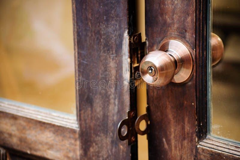 Botón de puerta fotografía de archivo
