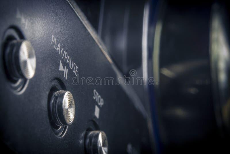 Botón de reproducción estéreo fotografía de archivo