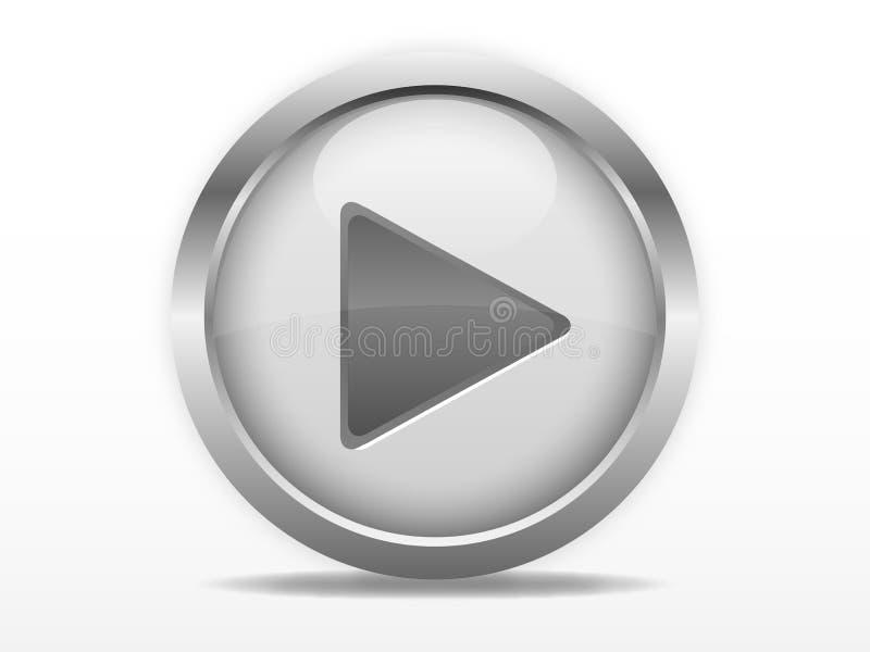 Botón de reproducción gris libre illustration