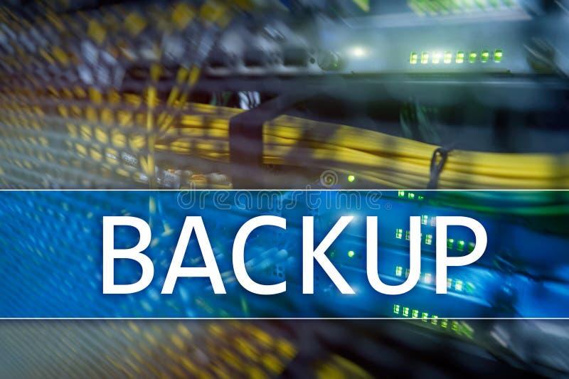 Botón de reserva en fondo moderno del sitio del servidor Prevención de la pérdida de datos Recuperación de sistema imagen de archivo