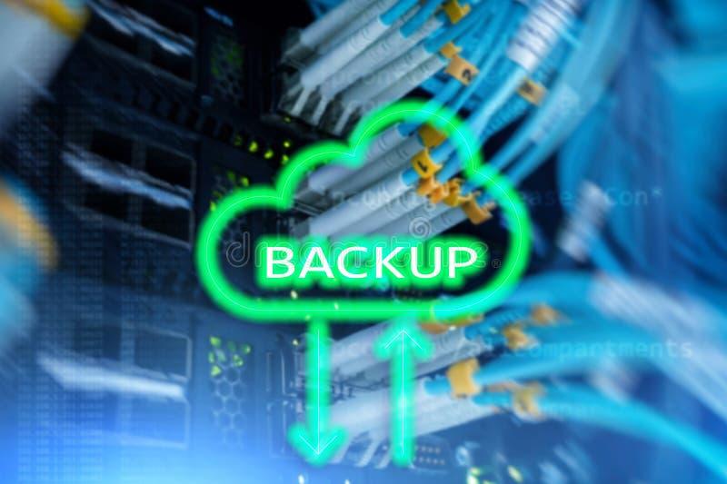 Botón de reserva en fondo moderno del sitio del servidor Prevención de la pérdida de datos Recuperación de sistema foto de archivo libre de regalías
