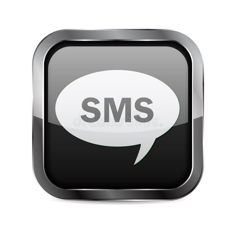 Botón de SMS  ilustración del vector